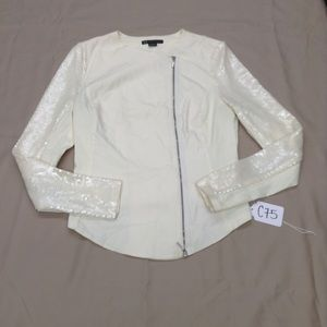 A/X Armani Exchange Sequined Sleeve Zip Jacket